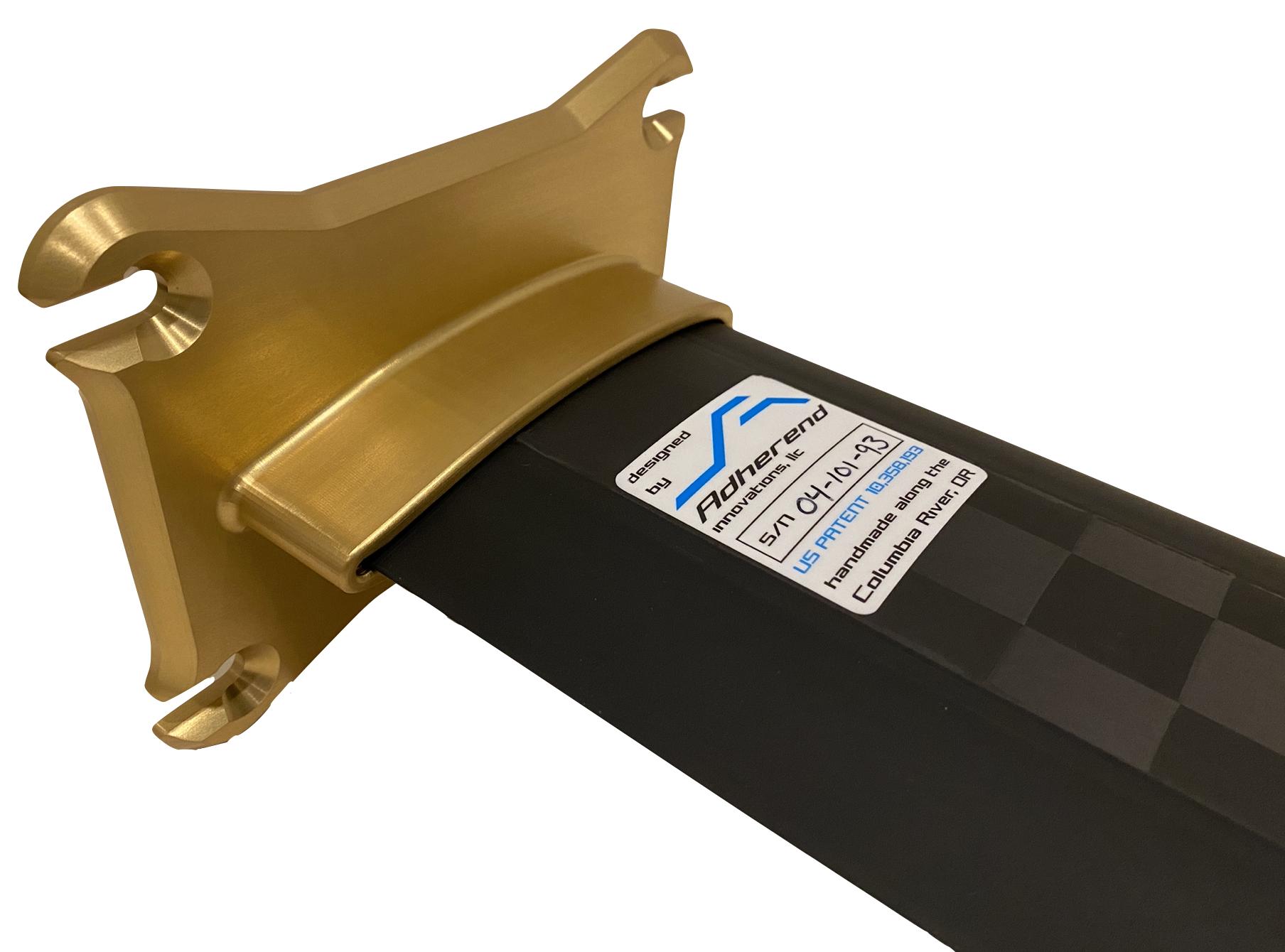 Carbon fiber hydrofoil adapters mounts